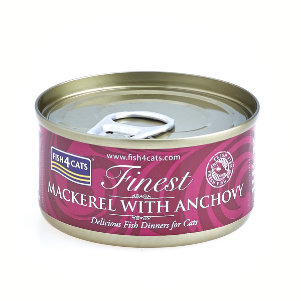 FINEST FISH4CATS <br>MACKEREL <br>with ANCHOVY