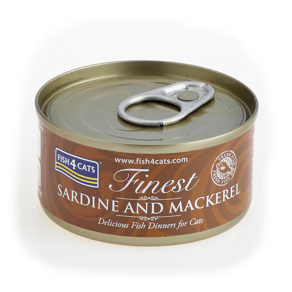 FINEST FISH4CATS <br>SARDINE <br>and MACKEREL