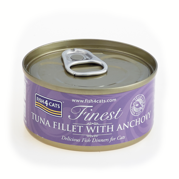 FINEST FISH4CATS <br>TUNA FILLET <br>with ANCHOVY
