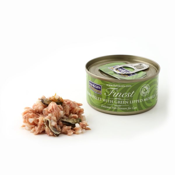FINEST FISH4CATS <br>TUNA FILLET with <br>GREEN LIPPED MUSSEL