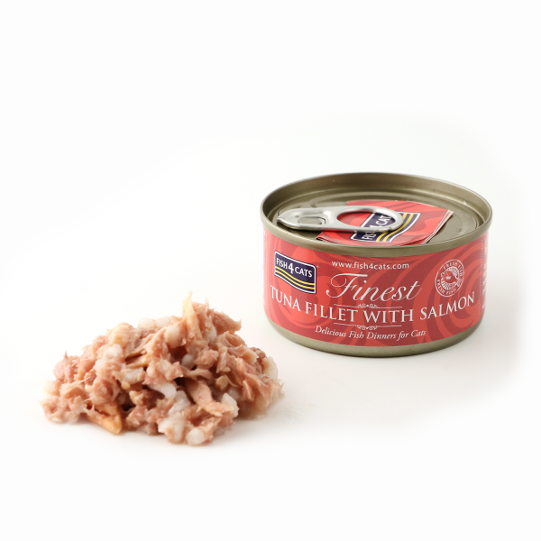 FINEST FISH4CATS <br>TUNA FILLET <br>with SALMON