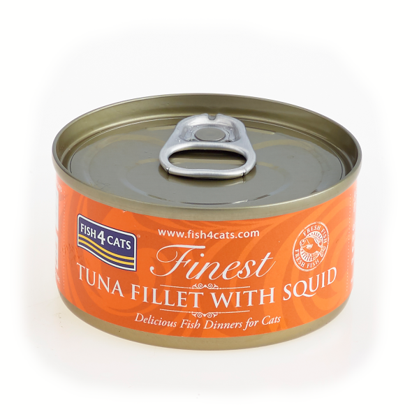 FINEST FISH4CATS <br>TUNA FILLET <br>with SQUID