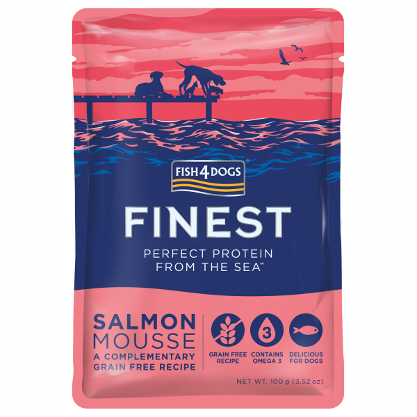 FINEST SALMON MOUSSE <br>for Dogs